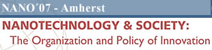 Nanotechnology and Society: The Organization and Policy of Innovation