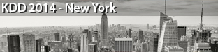 20th ACM SIGKDD Conference on Knowledge Discovery and Data Mining (KDD), New York 2014