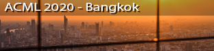 12th Asian Conference on Machine Learning, November 18-20 2020, Bangkok, Thailand (now virtual)